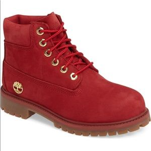 Ruby Red Waterproof Boot TIMBERLAND